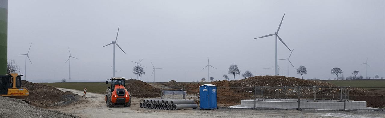 Windkraftanlagen und Windparks